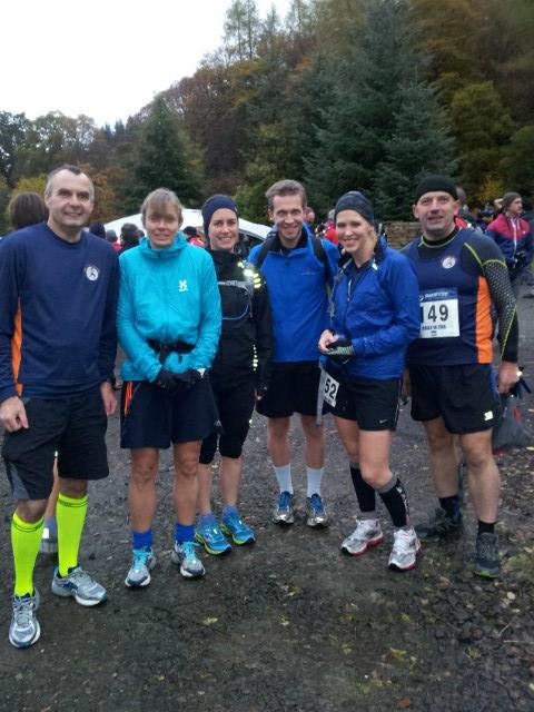 November - my first ultra marathon. Glen Ogle 33 in the POURING rain.