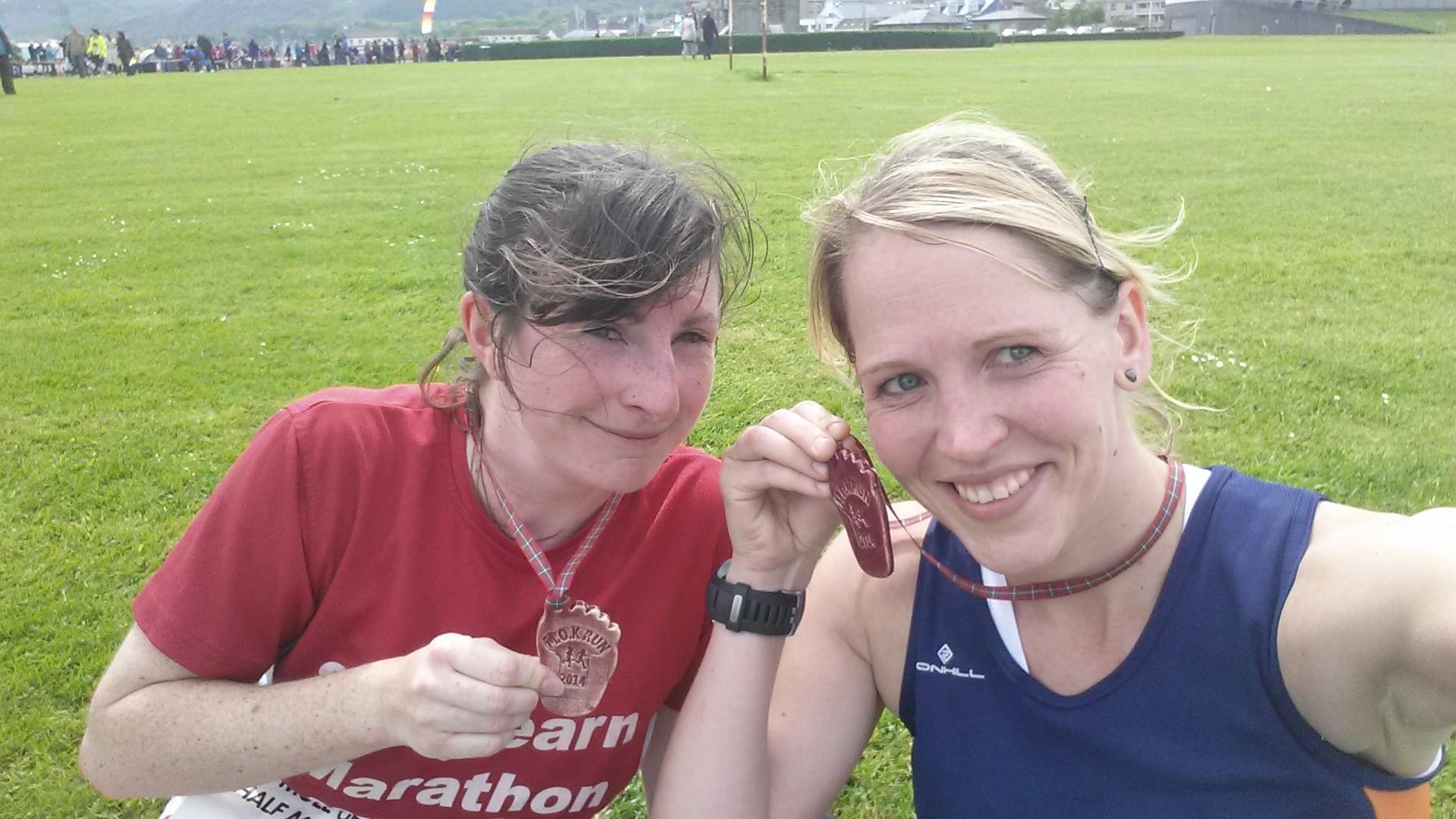 Post race sweatyness. Lovely!