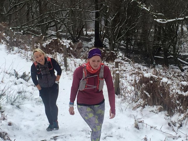 Hills and snow = toguh training!